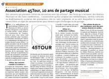 Article paru dans le magazine A la Hune
