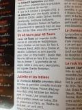 Article paru dans le magazine Francofans d'octobre-novembre 2014